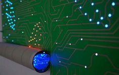 LED-1865 | Electric Walls™ - LED Wallpaper - Circuit Board Walls