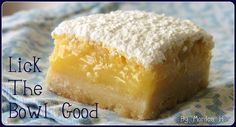Lemon bars...