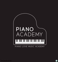 Drawing Piano, Academy Logo, Diy Gifts For Friends, Logo Design, Graphic Design, Music Party, Typography Inspiration, Logos, Illustration