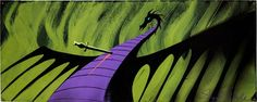 Animation Art:Concept Art, Eyvind Earle Sleeping Beauty Dragon Concept Painting (WaltDisney, 1959)....