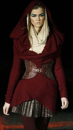 An alternative to the hooded cloak perhaps. Ok the makeup is really stupid but I want the outfit.