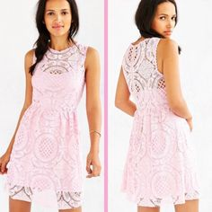 ❗️LAST CHANCE Urban Outfitters Pink Lace Dress NWT ❗️LAST CHANCE❗️Urban Outfitters Pink Eyelit lace dress! Size large. Brand new with tags NWT retails $79! Im having a huge Moving Closet Cleanout Sale! Im selling to the first reasonable offer i receive so feel free to make an offer & it's yours! Snatch it up before someone else does! ASAP shipping! Extra 30% off on bundles! Suggested User  Urban Outfitters Dresses