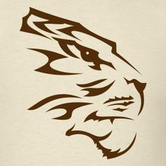 tiger t shirt left chest designs | Design ~ Tiger Tribal Head Tattoo 1 (+ your Text)