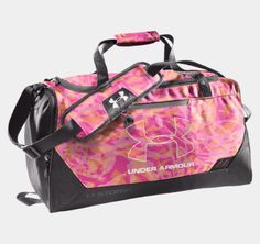 UA Hustle Storm SM Duffle Bag from Under Armour. Shop more products from Under Armour on Wanelo. Under Armour Backpack, Nike Under Armour, Under Armour Shoes, Under Armour Women, Adidas Duffle Bag, Duffel Bag, Backpack Bags, Cute Bags, Workout Gear