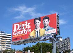 Dirk Gently's Holistic Detective Agency series launch billboard