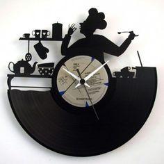 Chef orologio da parete disco 33 giri intagliato Modifica questo Prodotto