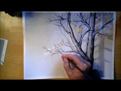 Foggy Trees in Watercolor