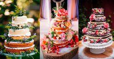 Naked cake para casamentos na primavera