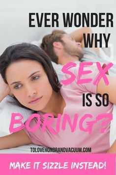Married Sex Should Not Be Boring Sex! If sex is boring in your marriage, the problem is not with sex. The problem is that you're not prioritizing it as a couple. Here's how to bring the spark back!