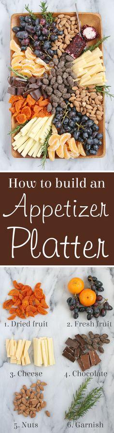 How to build a beautiful gourmet Appetizer Platter!