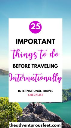 Are you planning to go on a vacation? Here are the most important things to do before every trip. |International travel tips for travelers. | what to do before traveling abroad| the essential international travel checklist | to do list before international travel #traveltips #internationaltravelchecklist |tips for traveling abroad | how to plan for a trip | travel checklist for overseas | |#howtoplanatrip things to know before traveling internationally | #thingstodobeforetravelingabroad… Travel Essentials, Travel Hacks, Travel Advice, Budget Travel, Vacation Deals, Travel Deals, Vacation Trips, Travel Guides, Travel Destinations