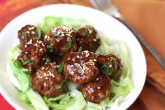 *****Saucy Asian Meatballs recipe by Barefeet In The Kitchen