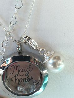 Maid of Honor Locket! Bridal Collection coming 8.18.14!! www.mirandamoran.origamiowl.com