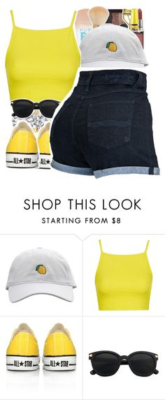 """"" by yeauxbriana ❤ liked on Polyvore featuring NARS Cosmetics, Topshop and Converse"