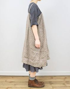 Apron Style Dresses – Home Grown Fashion For You - Stylishwife Mori Girl Fashion, Womens Fashion, Apron Dress, Dress Up, Mode Country, Annie Costume, Pretty Outfits, Cool Outfits, Your Style