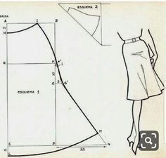 Drafting a bias cut tulip skirt Skirt Patterns Sewing, Blouse Patterns, Clothing Patterns, Sewing Hacks, Sewing Tutorials, Sewing Projects, Fashion Sewing, Diy Fashion, Fashion Moda
