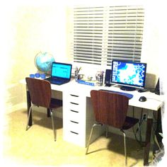 our diy two person desk i love it abm office desk diy