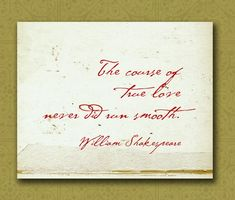 Shakespeare Wedding Quotes