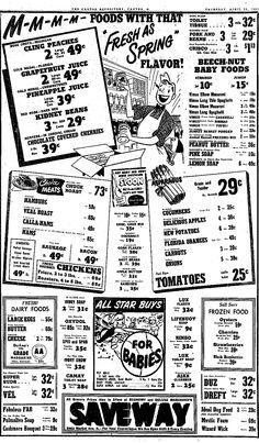 Vintage 1951 Saveway Market Ad Vimco Elbow Macaroni, Spaghetti, Cavatelli, Ribmac and Tufoli Viviano Macaroni Co, Carnegie, PA