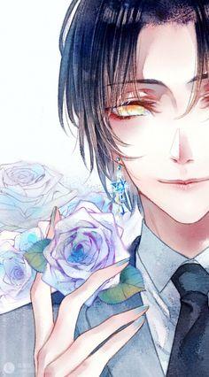 With guns and earrings boys anime, hot anime boy, manga boy, ani Hot Anime Boy, Boys Anime, Chica Anime Manga, Cute Anime Guys, Manga Boy, I Love Anime, Anime Chibi, Anime Art, Anime Cosplay