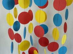 Red Yellow Blue Childrens Birthday Party by FabulouslyHomemade, $10.00...... COULD B CUTE IN CLASSROOM TOO ?  :)