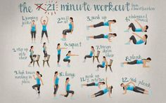 What is the 7-Minute Workout? 21-Minute Workout cheat sheet by Almost Fearless