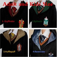 Adult/ Kids Harri Potter Cosplay Costumes Harry 's Robes / Tie Gryffindor 's Ravenclaw 's Mantle Slytherin 's Hufflepuff Cloaks Cosplay Outfits, Cosplay Costumes, Kid Costumes, T Shirt And Shorts, Tee Shirts, Slytherin And Hufflepuff, Harry Potter Cosplay, Running Shirts, Halloween Outfits