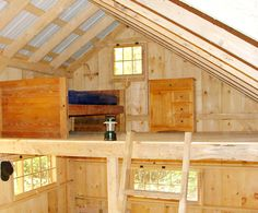 The Vermont Cottage - Tiny Living Shed With Loft, Run In Shed, Cabin Loft, Diy Cabin, Pallet Shed Plans, Cabin Plans, New England Cottage, One Room Cabins, Cottage Kits