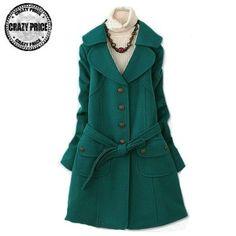 Green leisure fashion coat