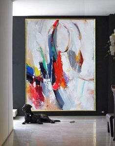 Handmade Extra Large Contemporary Painting, Huge Abstract Canvas Art, Original Artwork - By Leo, Celine Ziang Art Abstract Canvas Art, Painting Abstract, Canvas Paintings, Art Moderne, Contemporary Paintings, Painting Inspiration, Modern Art, Art Pieces, Blue Orange