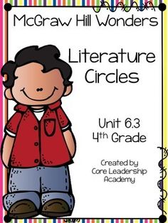 Thinkmark Literature Circle graphic organizer ~ Unit 6.3~There are 4 different levels approaching, on, ell, and advance!  Great for literacy centers! Enjoy!