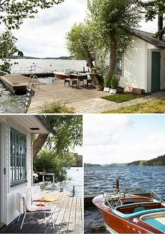 Scandinavian summer house by the style files, great summer cottage! Lakeside Living, Outdoor Living, House Design Photos, Lake Cabins, Exterior, My Dream Home, Beautiful Homes, Beach House, Places