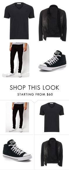 """Zane on Kara's first day"" by lunav-1 on Polyvore featuring Dr. Denim, Versace, Converse, Gucci, men's fashion and menswear"