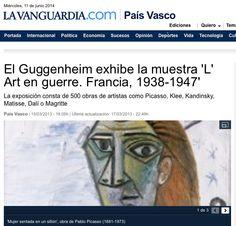 Picasso, Magritte, Kandinsky, Matisse, Dubuffet, Guggenheim Bilbao, Html, France, Exhibitions