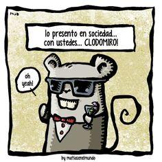 el ganador del concurso para elegir el nombre de la ratita, CLODOMIRO by Oscar Irusta