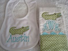 I love alligators on baby stuff!