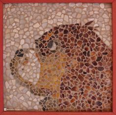 Cavalier King Charles Dog Portrait - Hunde Portraet - Portrait d'un chien - Shell from Alea Mosaik - Craft by MosaicStories