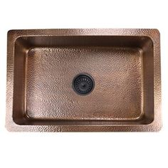 Highpoint Collection 30 Inch Undermount Hammered Light Copper Kitchen Sink  (30 Inch Undermount Copper Hammered Kitchen Sink), Brown, Size Over 22