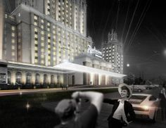 """Three teams make their way into the Ukraina Hotel Entryway finals in Moscow   ABD architects (Russia) + Werner Sobek Moskwa (Russia). Image © KB """"Strelka""""   Bustler"""