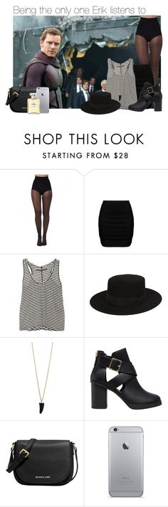 """""""Being the only one Erik listens to"""" by thatweirdgirlkris ❤ liked on Polyvore featuring Pretty Polly, Zizzi, Enza Costa, Yves Saint Laurent, Bee Charming, Pull&Bear, MICHAEL Michael Kors, Chanel, imagine and preference"""