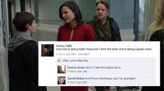 David's little comment is just perfect! And when you noticed who liked the status, it gets even funnier!!