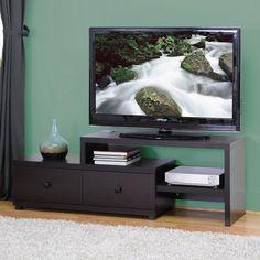 Baxton Studio Blythe Modern TV Stand, Dark Brown