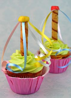 Sweetology: MayPole Cupcakes for May Day