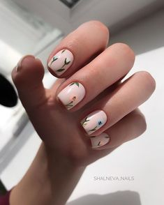 Beautiful Square Nails Design Ideas You'll Want To Copy Immediately – Page 6 – Cocopipi Stylish Nails, Trendy Nails, Cute Nails, Short Square Nails, Short Nails, American Nails, Square Nail Designs, Gel Nagel Design, Minimalist Nails