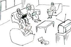 OĞUZ TOPOĞLU : günümüzün aile içi iletişimi karikatürü