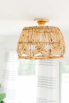 If you're on the hunt for an easy DIY pendant light to make I'm sharing how to make a basket light fixture and it's so simple! If you're on the hunt for an easy DIY pendant light to make I'm sharing how to make a basket light fixture and it's so simple! Diy Light Fixtures, Bedroom Light Fixtures, Kitchen Lighting Fixtures, Bedroom Lighting, Vintage Light Fixtures, Basket Lighting, Deck Lighting, Club Lighting, Boho Lighting