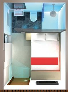 Small hotel room floor plan bedrooms pinterest for Design budget hotel salinenparc 0 sterne