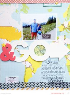 #papercraft #scrapbook #layout  & go by ginny at @studio_calico