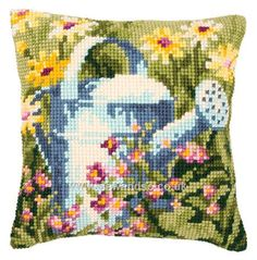 Buy Watering Can Cushion Front Chunky Cross Stitch Kit online at sewandso.co.uk