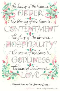 The Beauty Of The Home